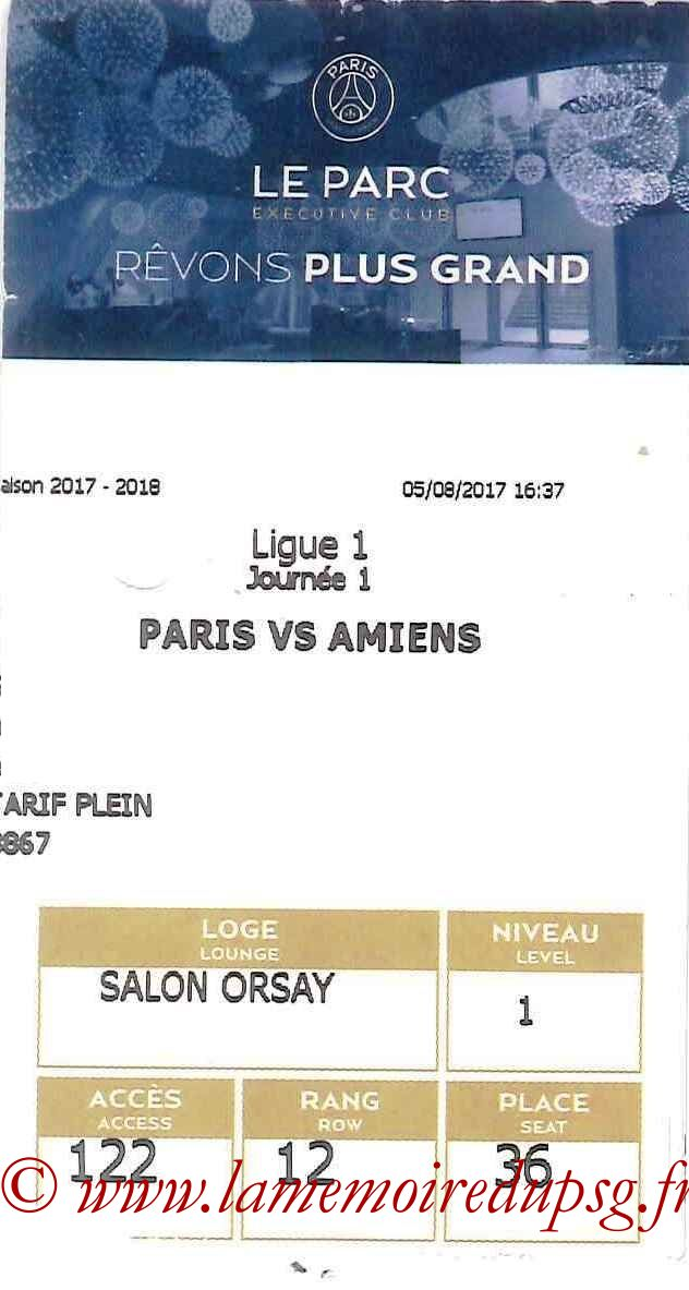 2017-08-05  PSG-Amiens (1ère L1, E-ticket Executive Club)