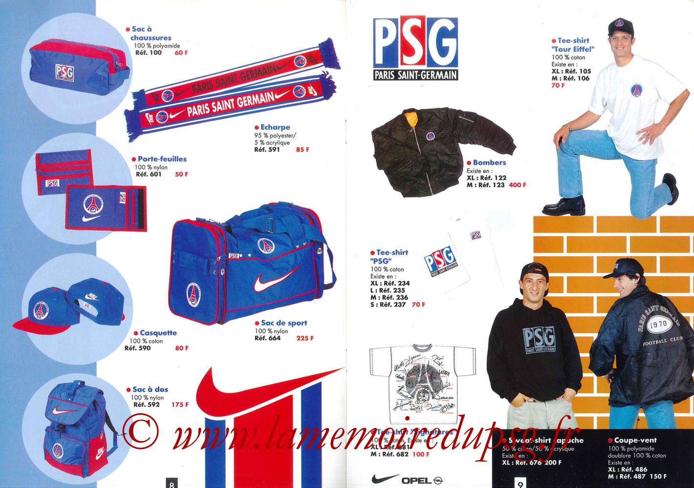 Catalogue PSG - 1996-97 - Pages 08 et 09