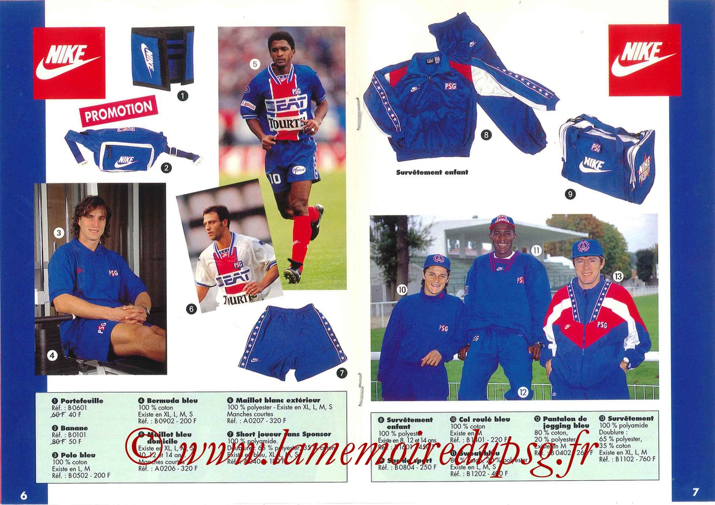 Catalogue PSG - 1994-95 - Pages 06 et 07