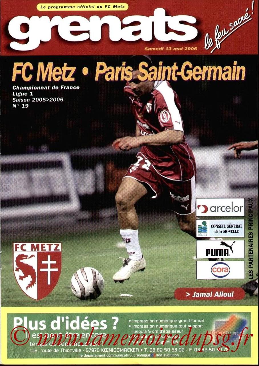 2006-05-13  Metz-PSG (38ème L1, Grenats N°19)