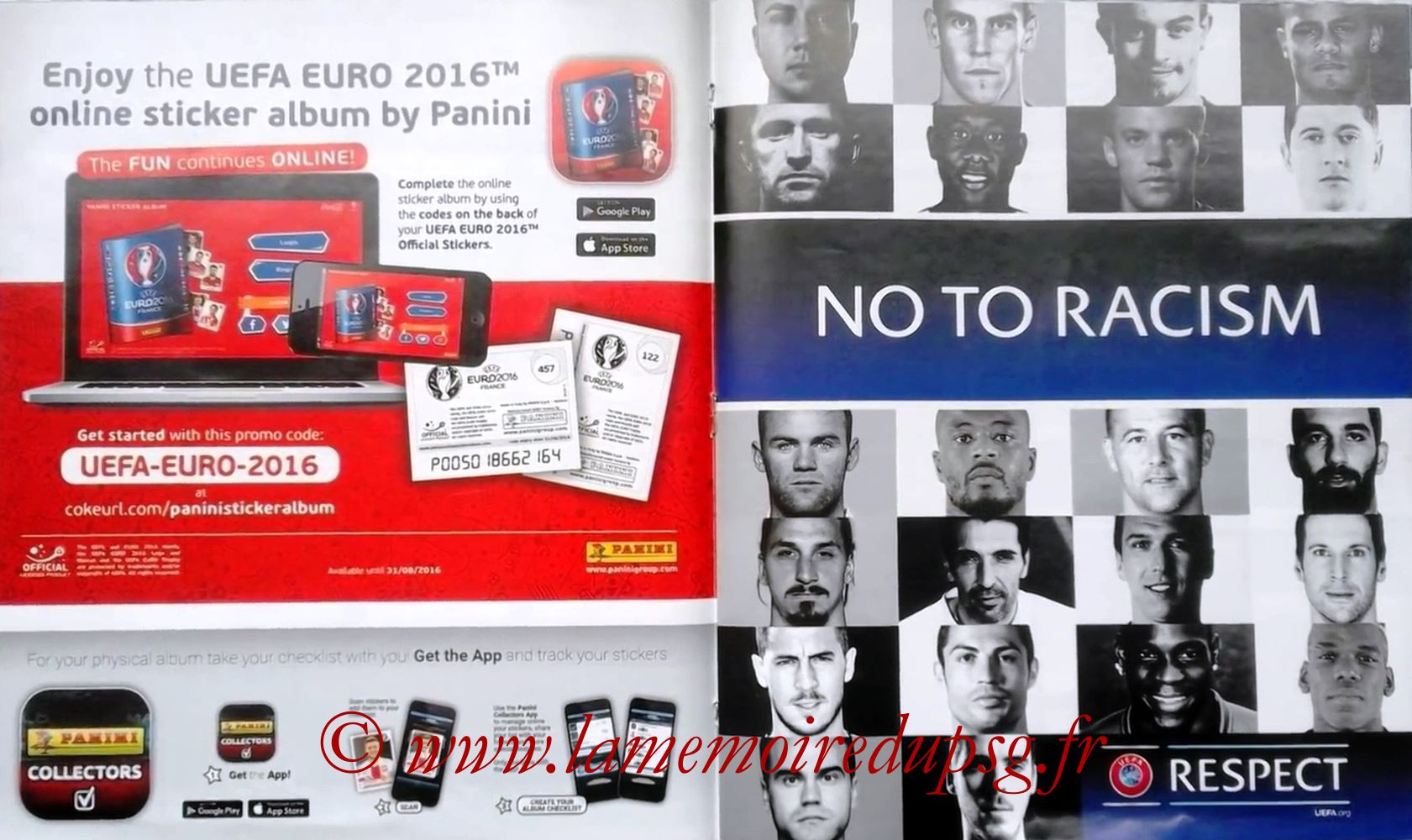 Panini Euro 2016 Stickers - Pages 48 et 49 - Respect