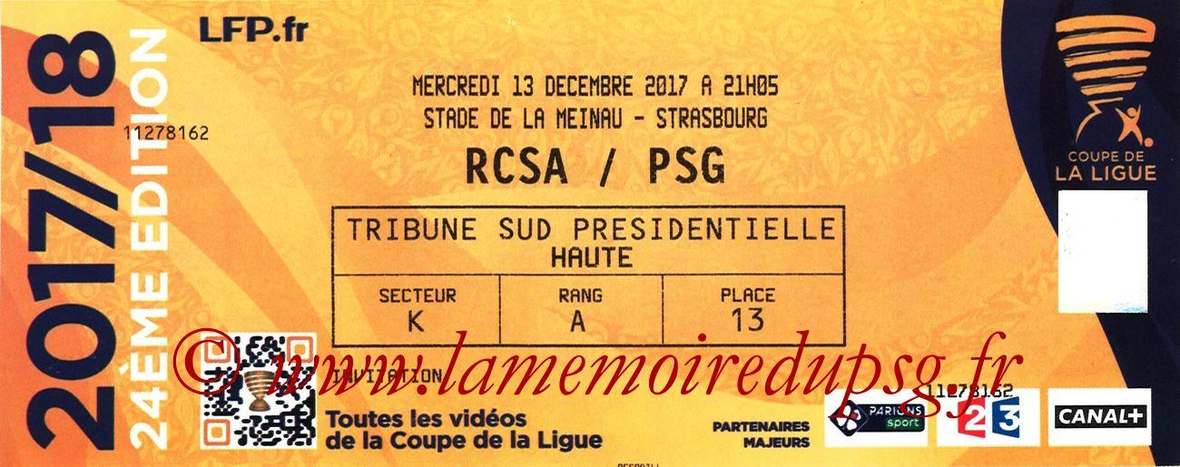 2017-12-13  Strasbourg-PSG (8ème CL)