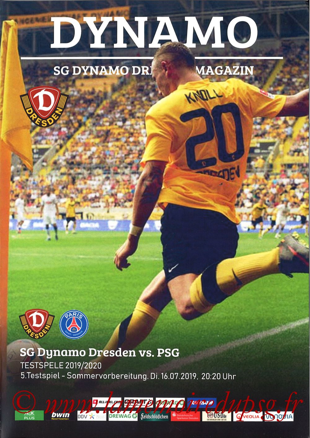 2019-07-16  Dynamo Dresde-PSG (Amical à Dresde, Programme pirate)