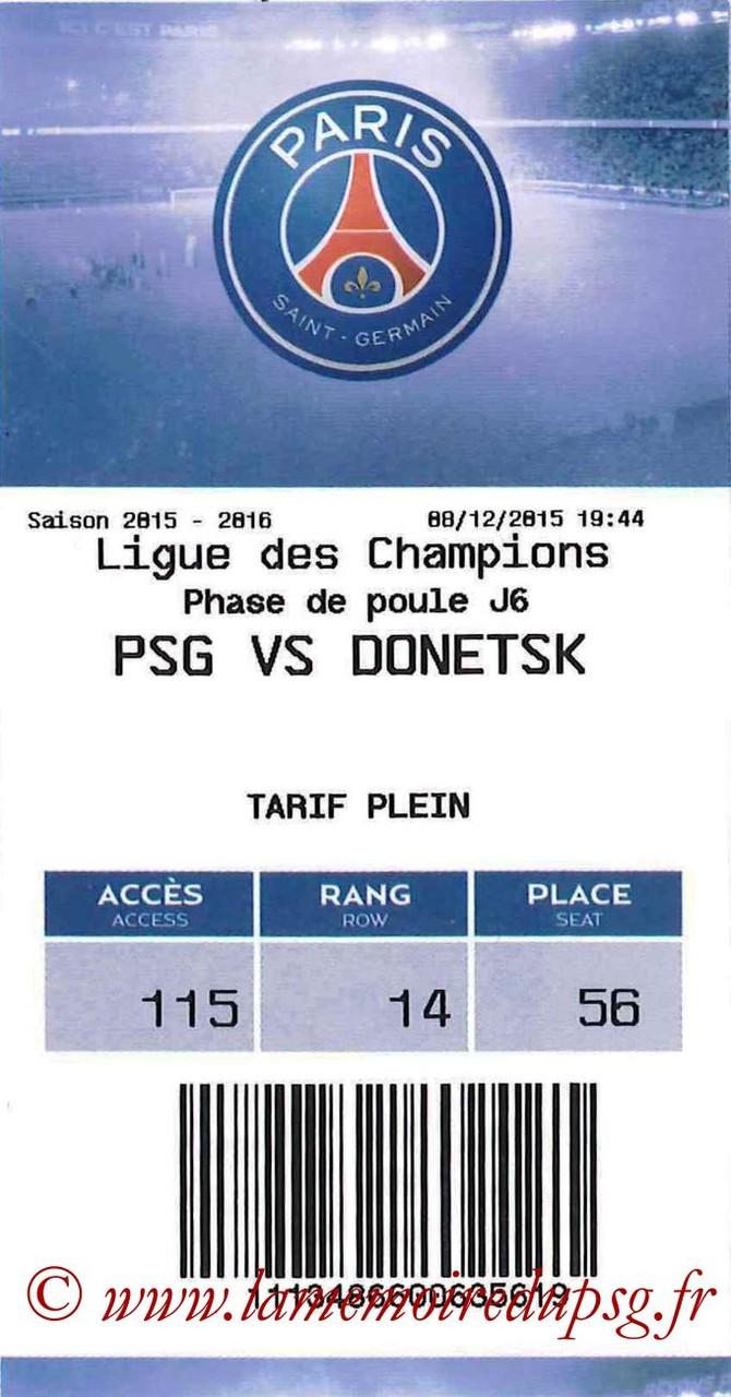 2015-12-08  PSG-Shakhtar Donetsk (6ème C1, E-ticket)