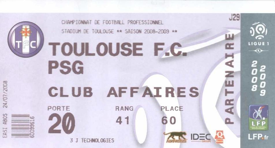 2009-03-22  Toulouse-PSG (29ème L1)