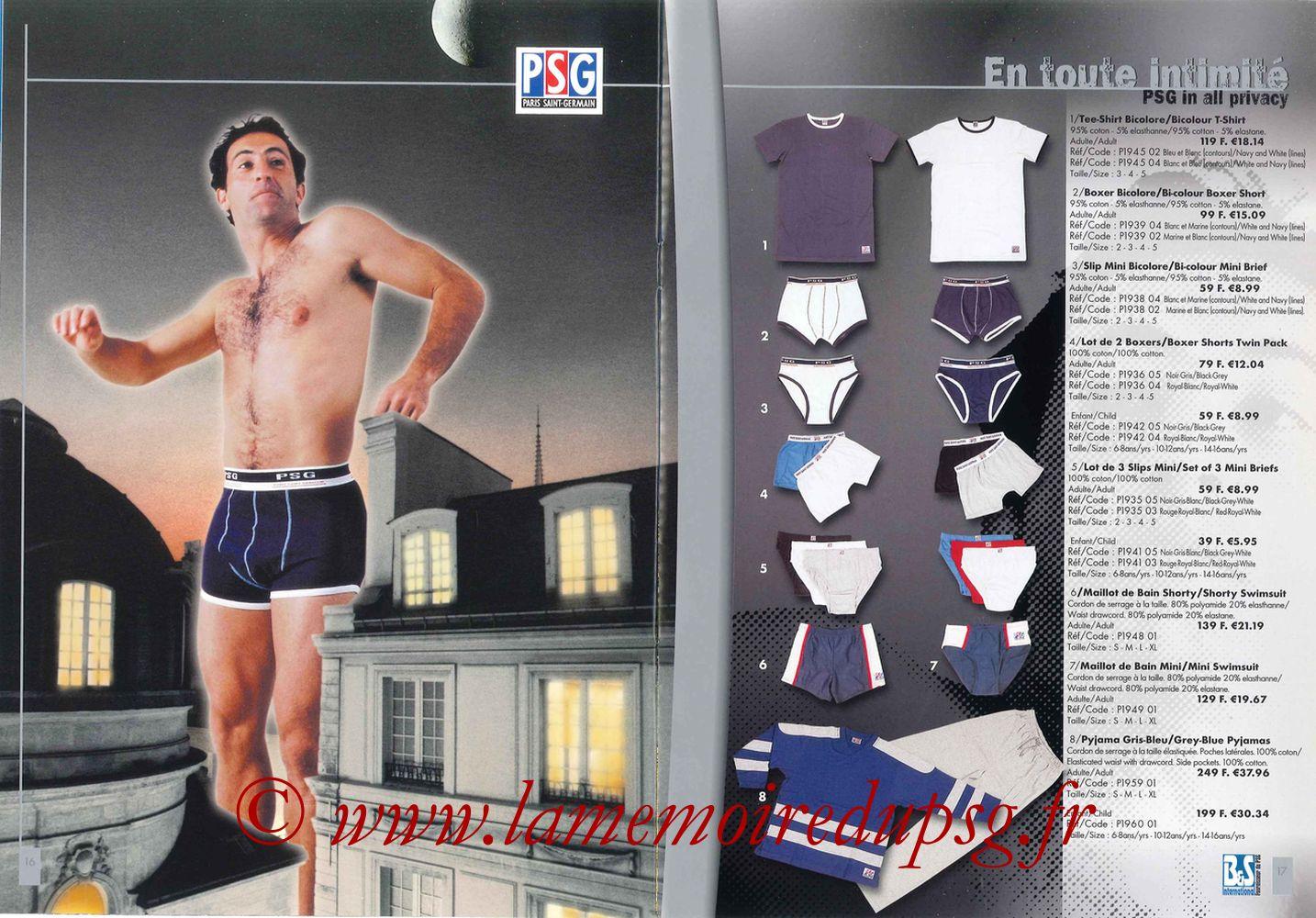 Catalogue PSG - 2000-01 - Pages 16 et 17