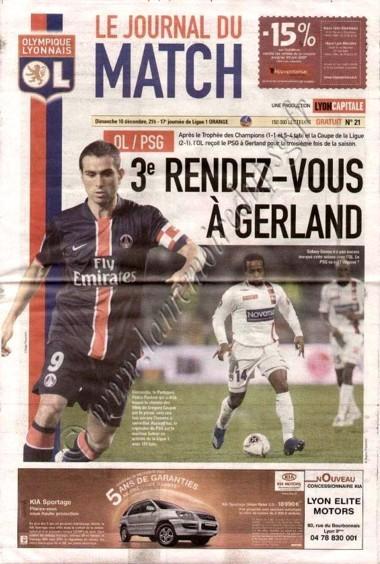2006-12-10  Lyon-PSG (17ème L1, Le journal du match N°21)