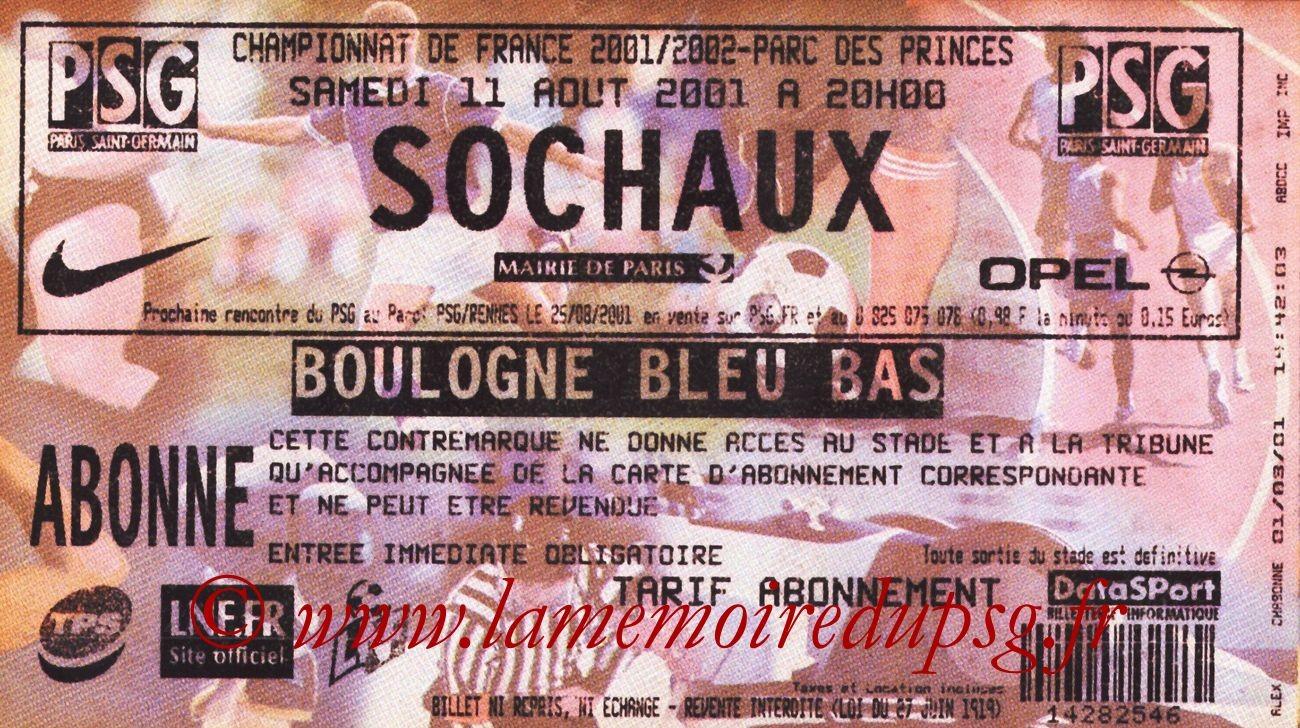 2001-08-11  PSG-Sochaux (3ème D1)