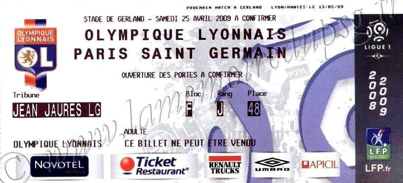 2009-04-24  Lyon-PSG (33ème L1)