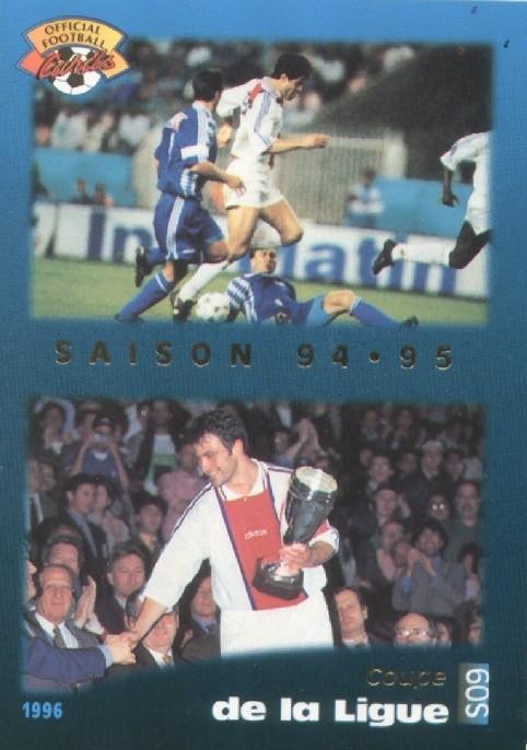 N° S09 - Parcours en Coupe de la Ligue 94-95 (Recto)