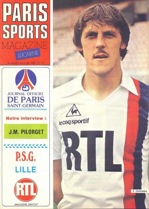 1983-04-29  PSG-Lille (33ème D1, Paris Sports Magazine N°14)