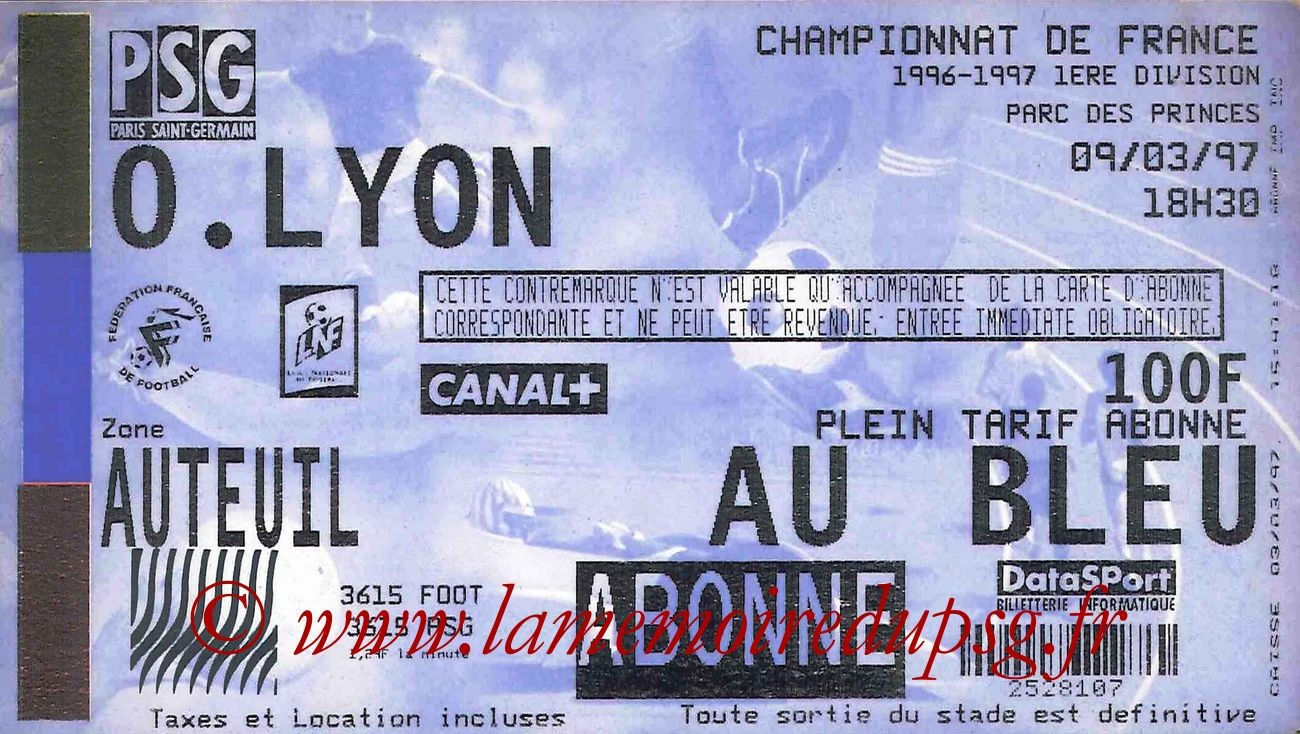 1997-03-09  PSG-Lyon (28ème D1)
