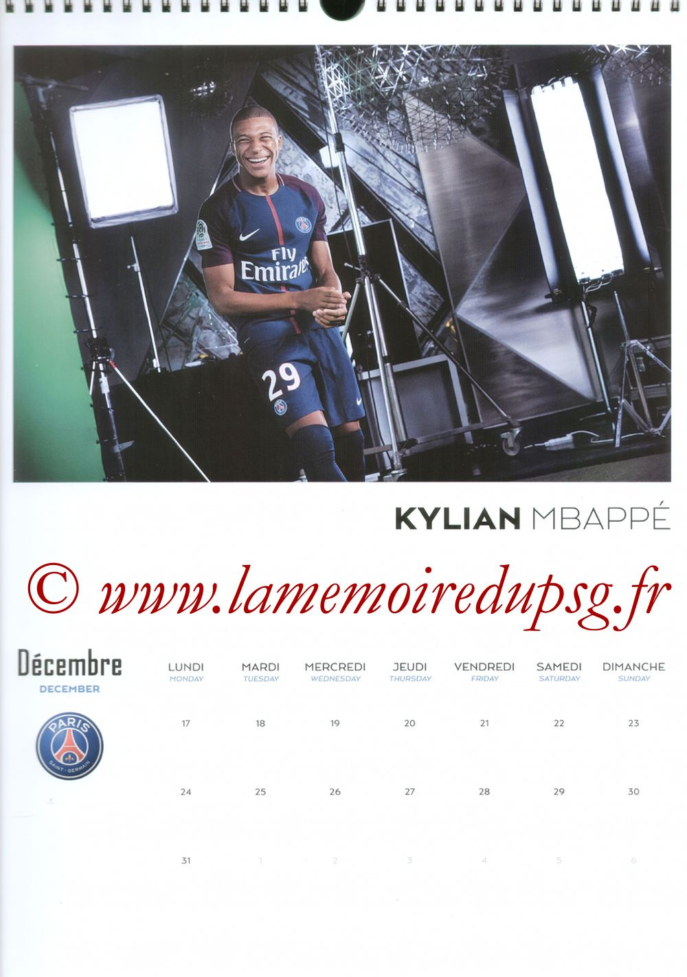 Calendrier PSG 2018 - Page 24 - Killian M'BAPPE