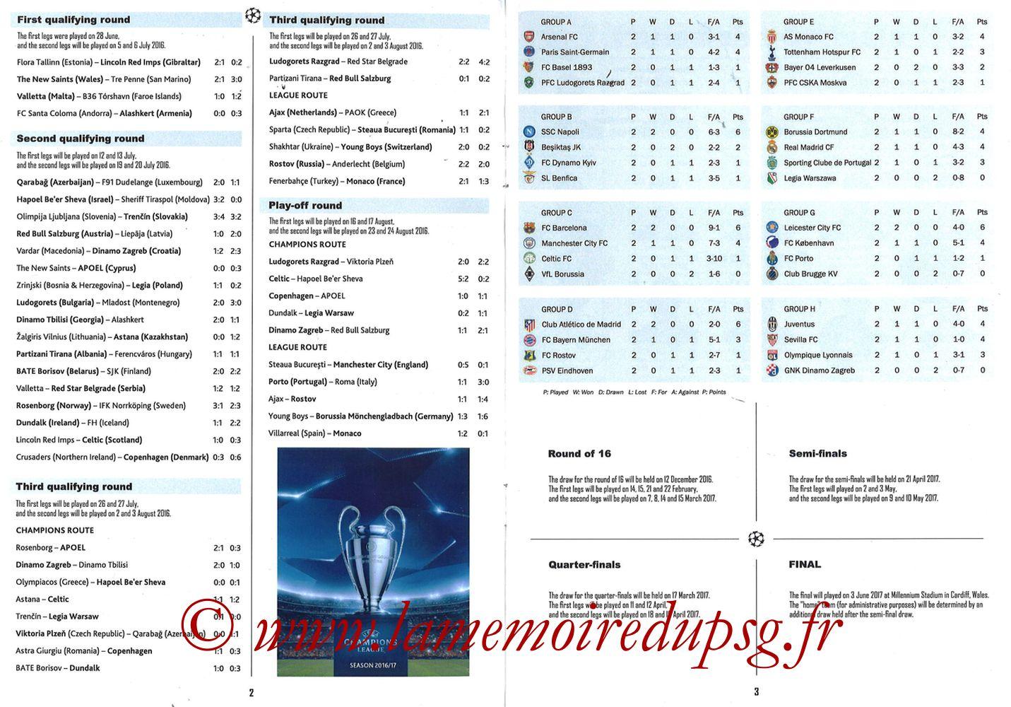 2016-10-19  PSG-Bâle (3ème Poule C1, Programme pirate) - Pages 02 et 03