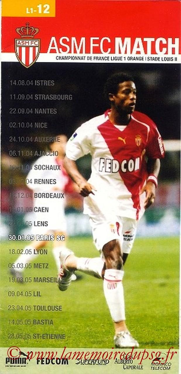 2005-01-30  Monaco-PSG (24ème L1, ASM FC le Match N°12)