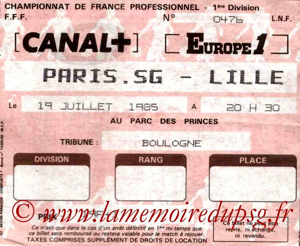 1985-07-19  PSG-Lille (2ème D1)