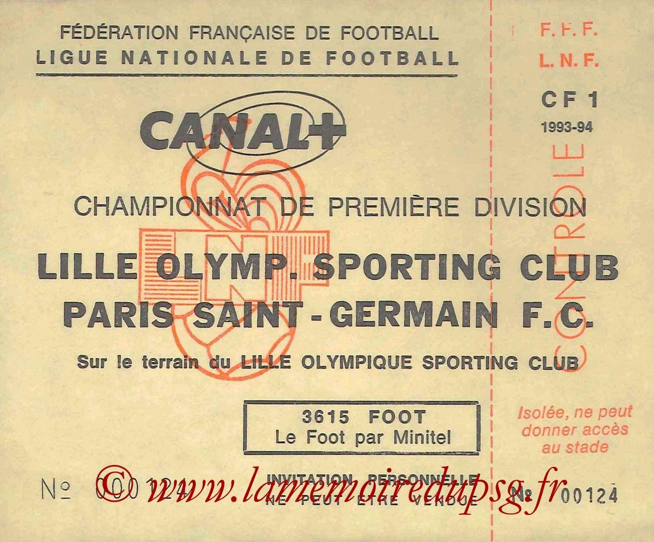 1993-12-03  Lille-PSG (20ème D1, Invitation LNF)