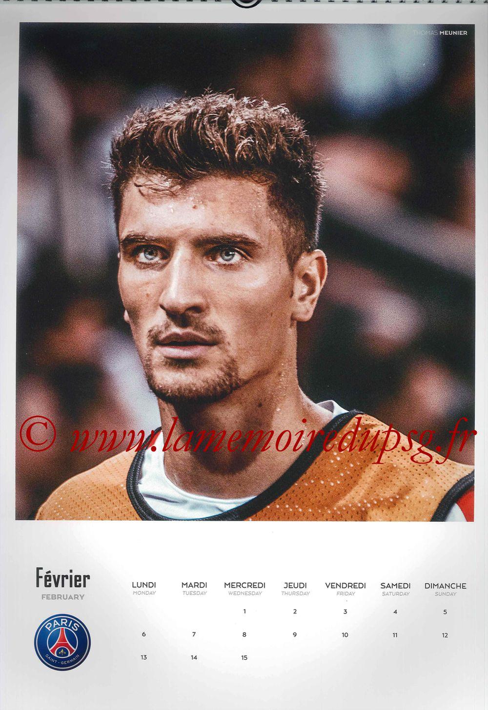 Calendrier PSG 2017 - Page 03 - Thomas MEUNIER