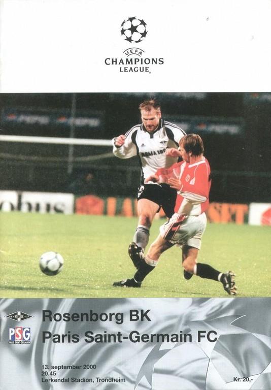 2000-09-13  Rosenborg-PSG (1ère Poule C1, 1ère Phase, Programme officiel UEFA)