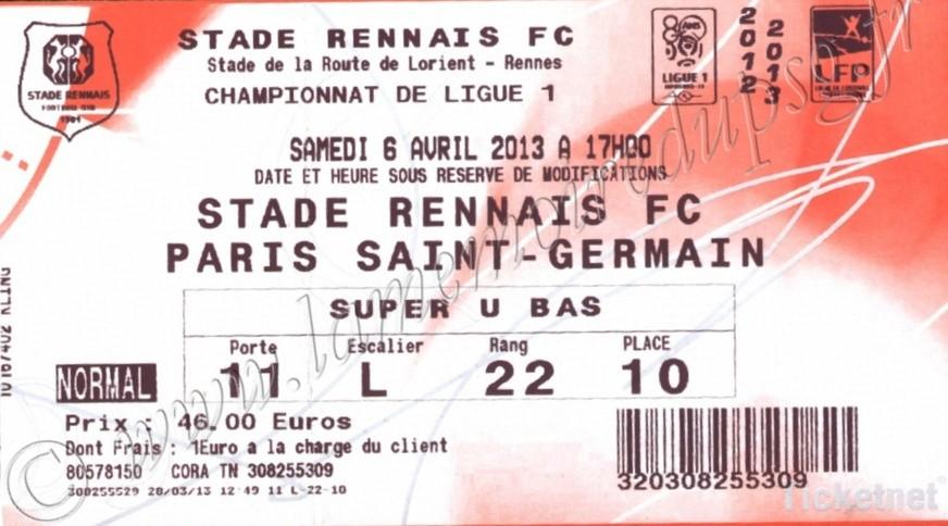 2013-04-06  Rennes-PSG (31ème L1, Ticketnet)