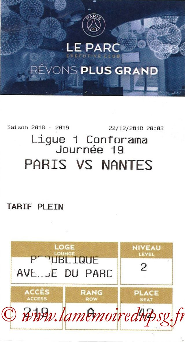 2018-12-22  PSG-Nantes (19ème L1, E-ticket Executive club)