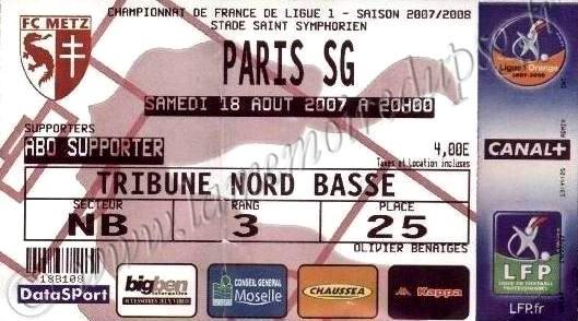 2007-08-18  Metz-PSG (4ème L1)