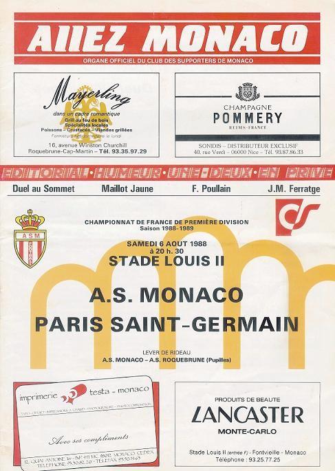 1988-08-06  Monaco-PSG (5ème D1, Allez Monaco)