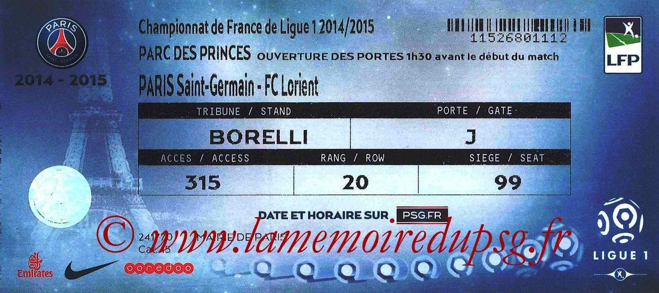 2015-03-20  PSG-Lorient (30ème L1)