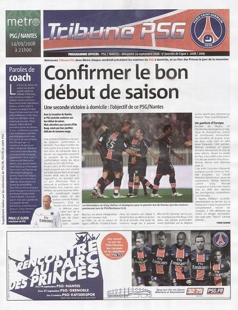 2008-09-14  PSG-Nantes (5ème L1, Tribune PSG N°1)