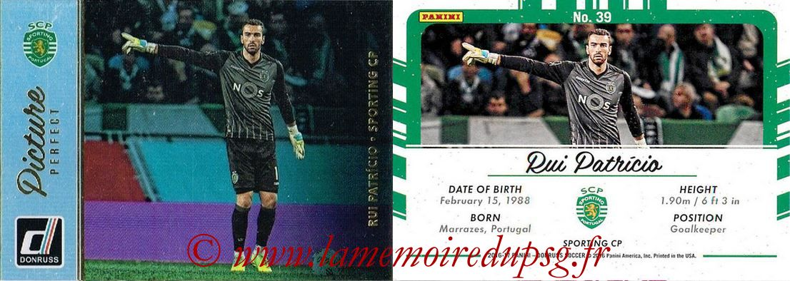 2016 - Panini Donruss Cards - N° PP39 - Rui PATRICIO (Sporting CP) (Picture Perfect)