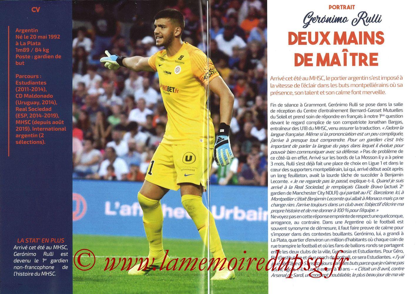 2019-12-07  Montpellier-PSG (17ème L1, L'Echo de la Mosson N°9) - Pages 02 et 03