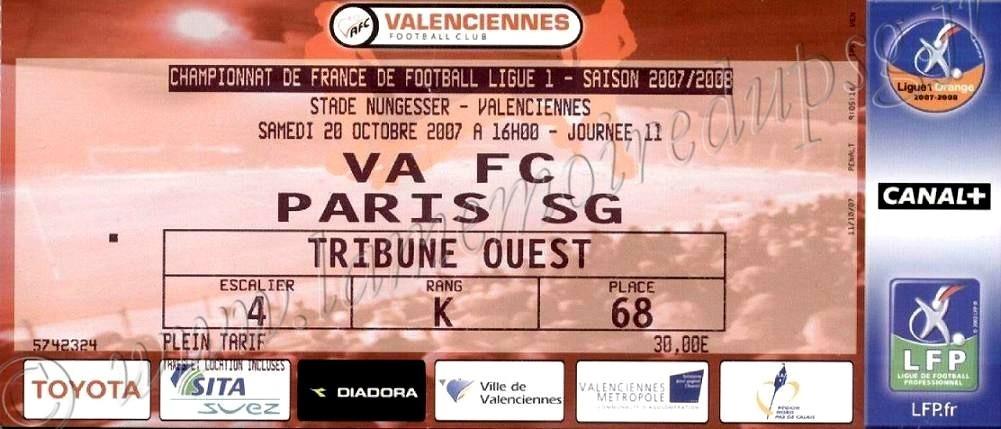 2007-10-20  Valenciennes-PSG (11ème L1)