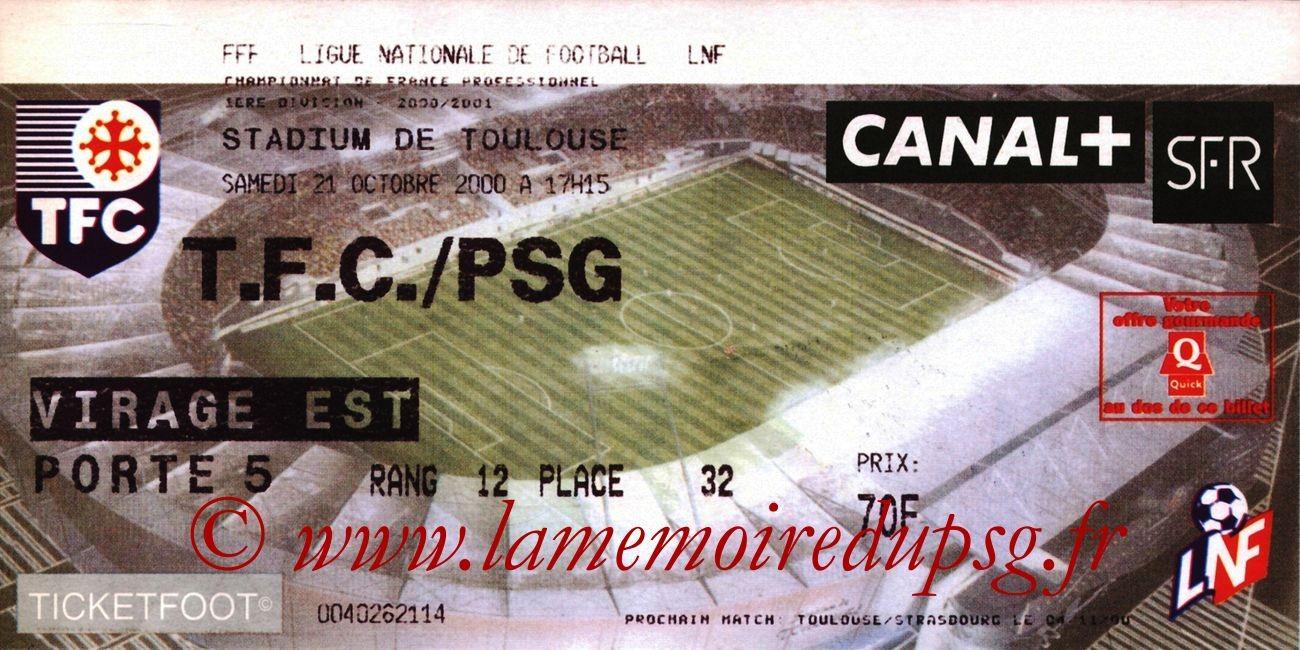 2000-10-21  Toulouse-PSG (12ème D1)