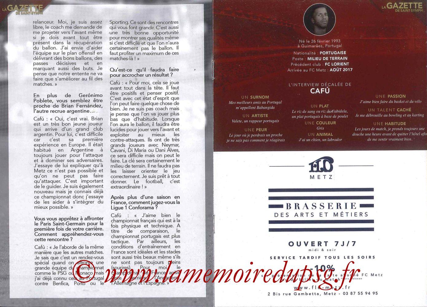 2017-09-08  Metz-PSG ((5ème L1, La Gazette de Saint-Symph) - Pages 08 et 09