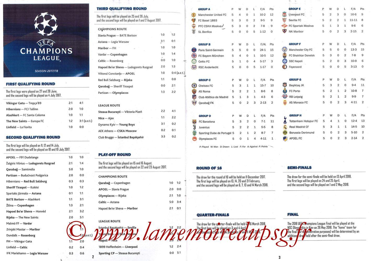 2017-12-05  Bayern Munich-PSG (6ème Poule C1, Programme pirate) - Pages 02 et 03