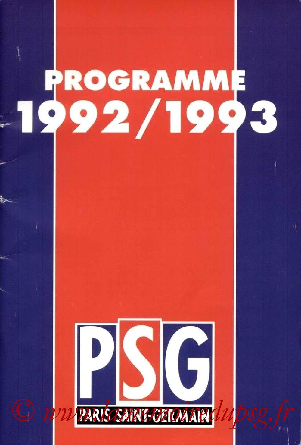 1992-93 - Guide de la Saison PSG