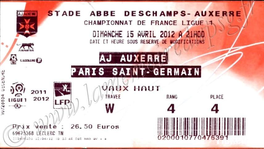 2012-04-15  Auxerre-PSG (32ème L1, Ticketnet)