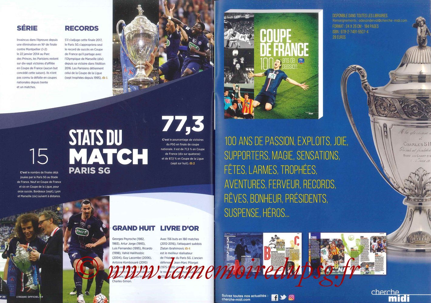 2017-05-27  Angers-PSG (Finale CF à Saint-Denis, Programme officiel) - Pages 30 et 31