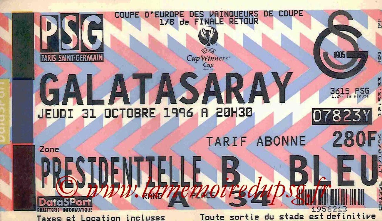 1996-10-31  PSG-Galatasaray (8ème Finale Retour C2)