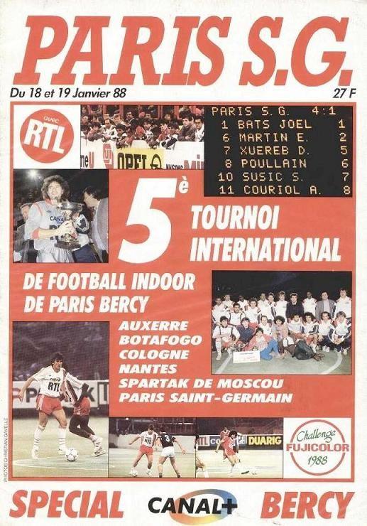 1988-01-18 et 19  5ème Foot indoor (Tournoi en salle à Bercy, Paris SG Magazine HS)