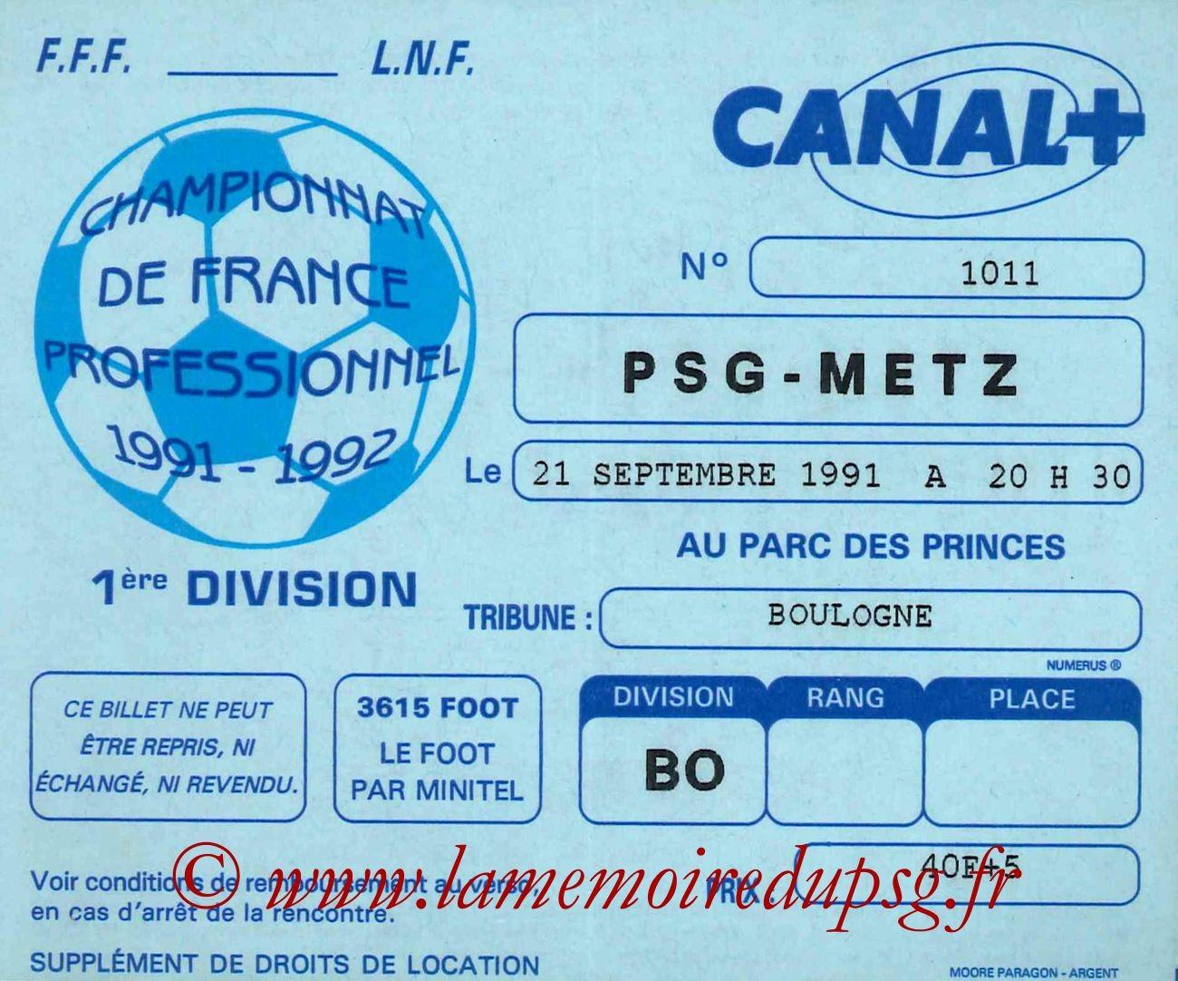 1991-09-21  PSG-Metz (11ème D1)