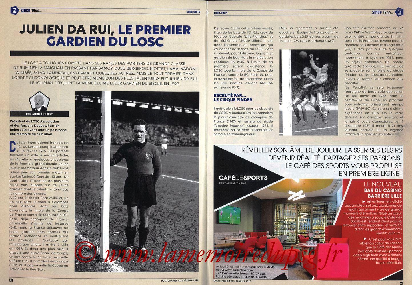 2020-01-25  Lille-PSG (21ème L1, Losc in the City N°41) - Pages 20 et 21