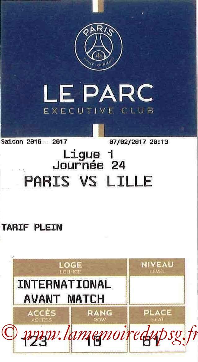 2017-02-07  PSG-Lille (24ème L1, E-ticket Executive club)