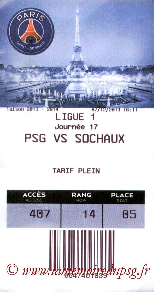 2013-12-07  PSG-Sochaux (17ème L1, E-Ticket)