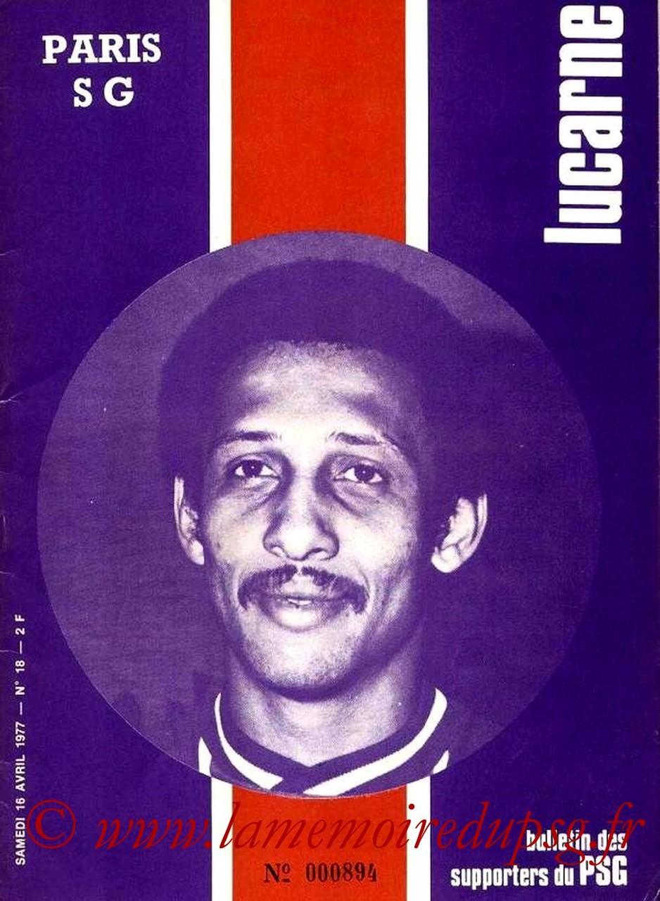 1977-04-16  PSG-Marseille (30ème D1, Lucarne N°18)