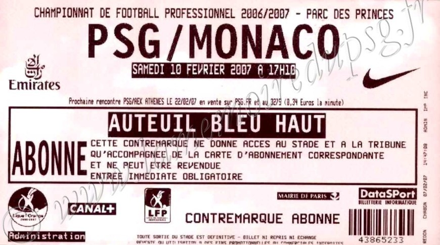 2007-02-10  PSG-Monaco (24ème L1)