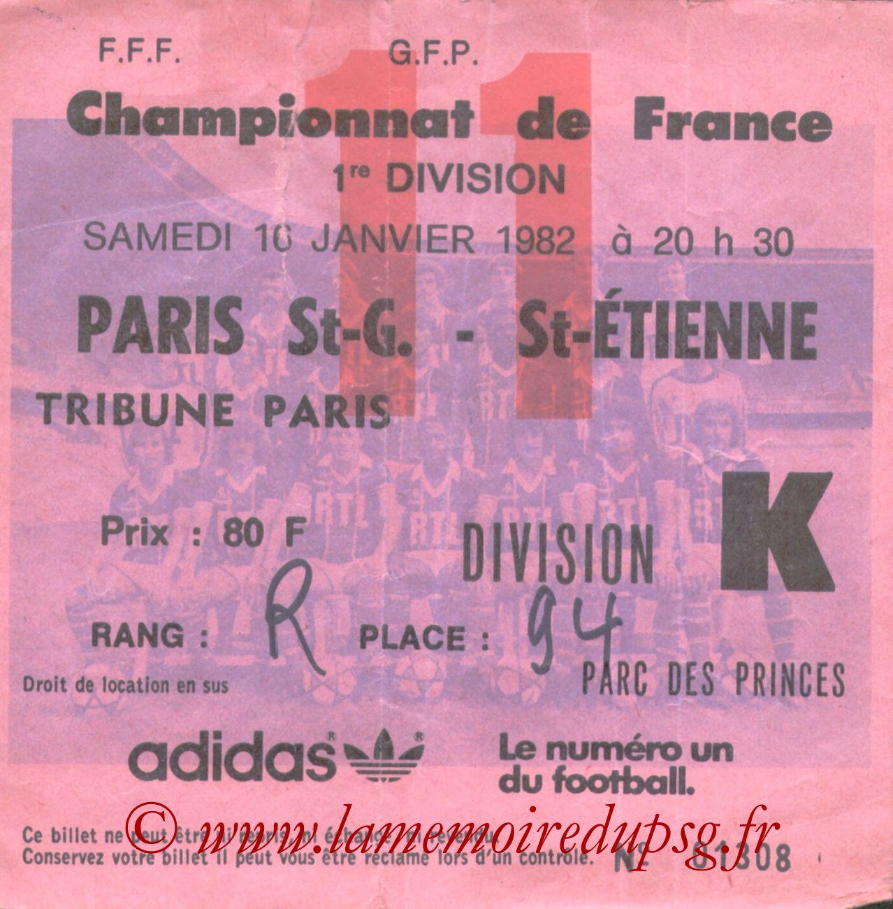 1982-01-16  PSG-Saint Etienne (23ème D1, bis)