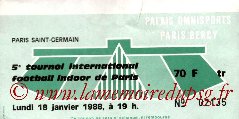 1988-01-18  PSG-Auxerre et PSG-Cologne (5ème Foot indoor à Bercy, 1ère journée)