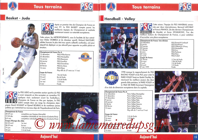 1998-99 - Guide de la Saison PSG - Pages 14 et 15