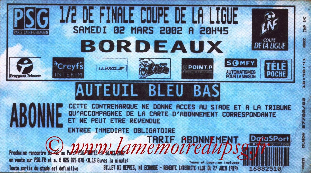 2002-03-02  PSG-Bordeaux (Demi-finale CL, bis)